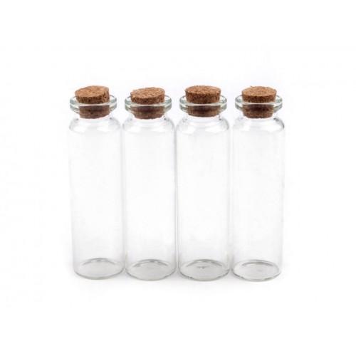 Fľaštička sklenená 20x75mm s korkom