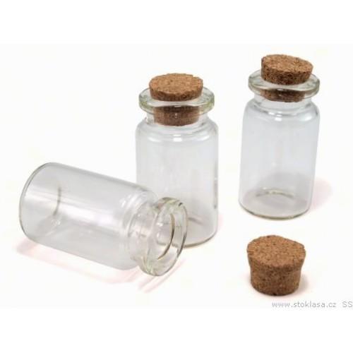 Fľaštička sklenená 20x40 mm s korkom