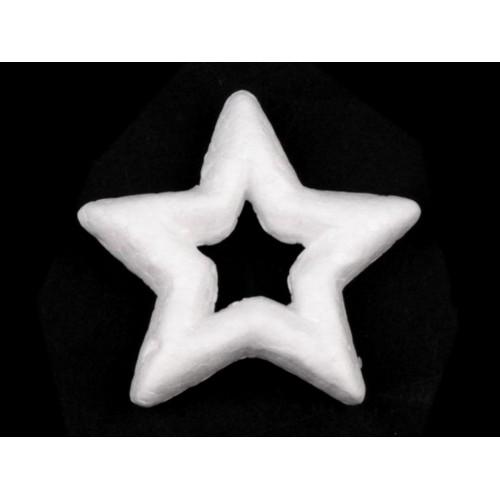 Hviezda polystyrén Ø7,5cm