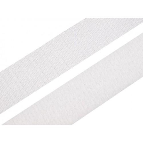 Suchý zips šírka 20mm biely obojstranný