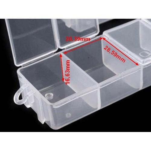 Zásobník plastový 30x35x150mm na korálky