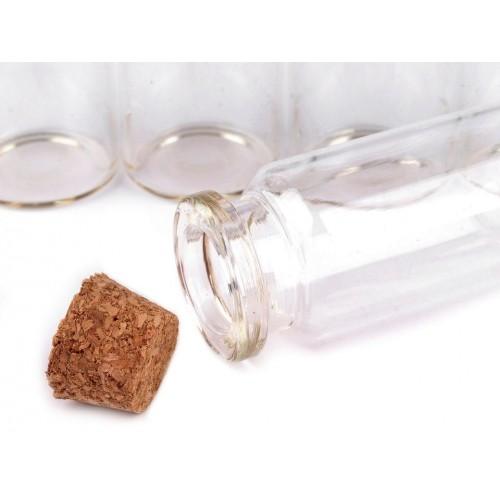 Fľaštička sklenená 20x50mm s korkom
