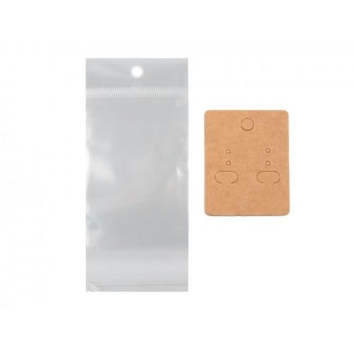 Karta na náušnice rozmer 40x50 mm