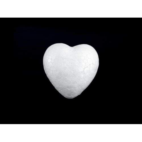 Srdce polystyrén 44x47 mm