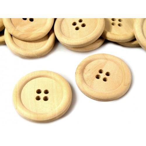 Gombík drevený  LEON veľkosť 48