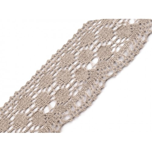 Ľanová čipka šírka  55 mm paličkovaná