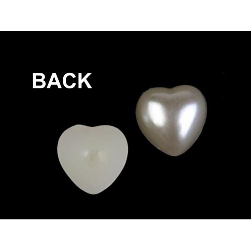 Perlové srdce 10x10 mm k nalepeniu