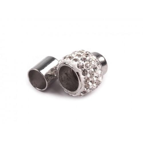 Magnetické zapínanie Ø7 mm s brúsenými kamienkami