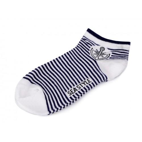 Dámske bavlnené ponožky členkové námornícke
