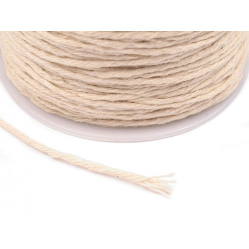 Bavlnená šnúrka Ø1 mm