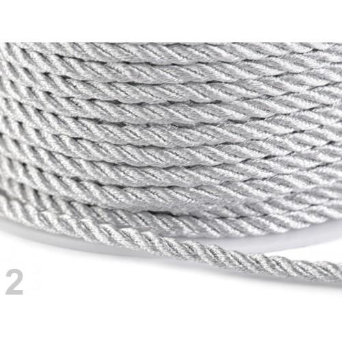 Šnúra točená s lurexom Ø3 mm