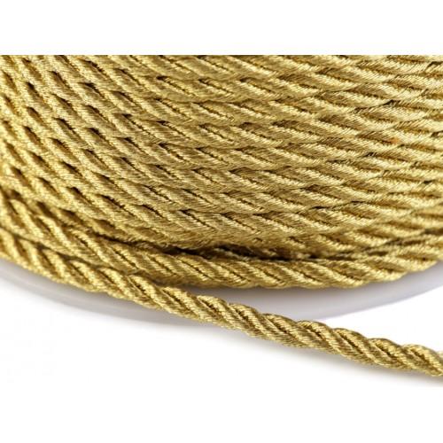 Šnúra točená s lurexom Ø3,5 mm