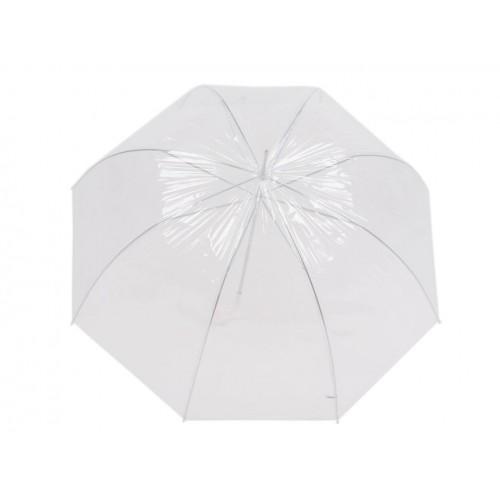 Dáždnik s rúčkou dámský priehľadný