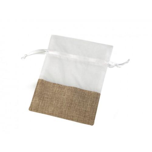Darčekové vrecúško kombinované 13x18 cm