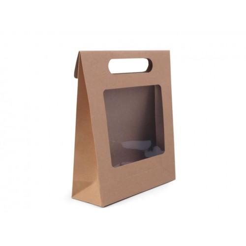 Papierová taška 16x21 cm s priehľadom