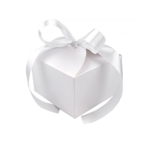 Papierová krabička 8,5x12,5x12,5 cm so stuhou