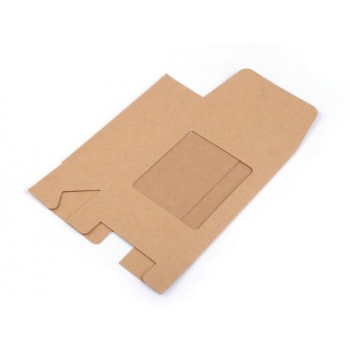 Papierová krabica s priehľadom 9,5x13 cm
