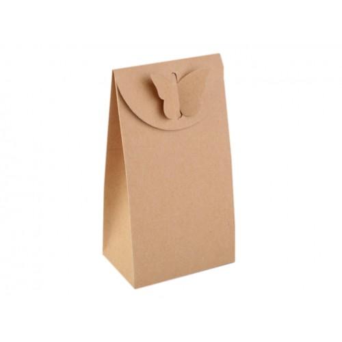 Papierová krabička 8x15 cm s motýľom