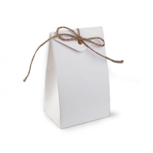 Papierová krabička 7,5x12 cm s motúzikom