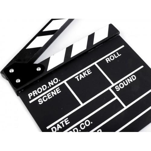 Filmová klapka 20x20 cm