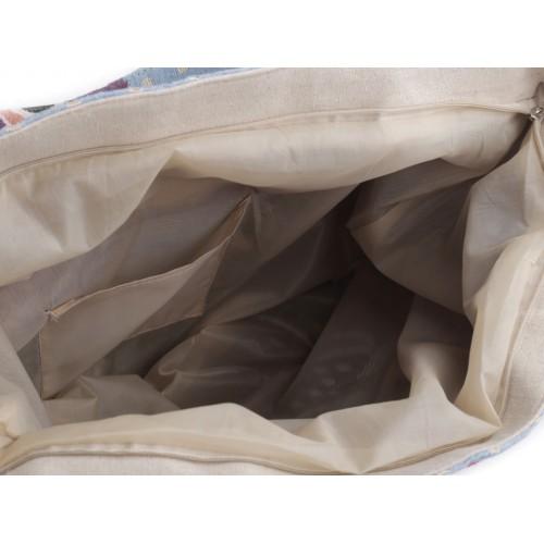 Ľanová taška sovy 40x45 cm