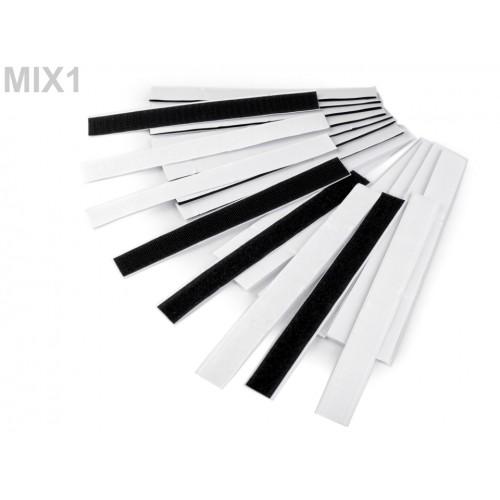 Suchý zips komplet samolepiaci strihaný šírka 2x20 cm