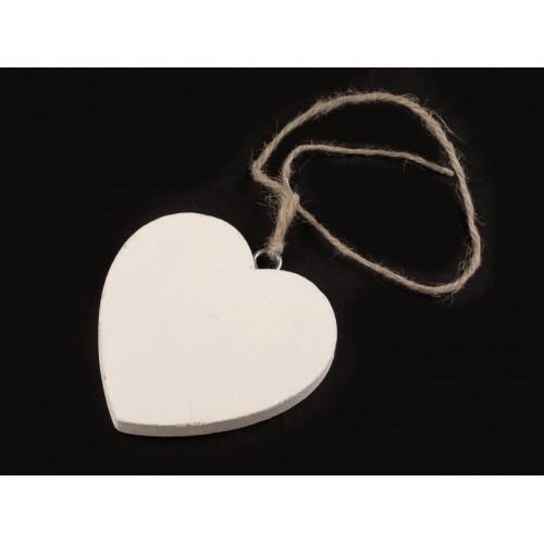 Drevené srdce 7x7 cm s motúzikom