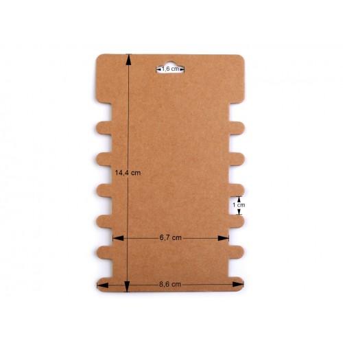 Papierová karta natural 8,6x14,4 cm s výrezmi