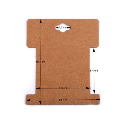 Papierová karta natural 8,6x10,2 cm s výrezom