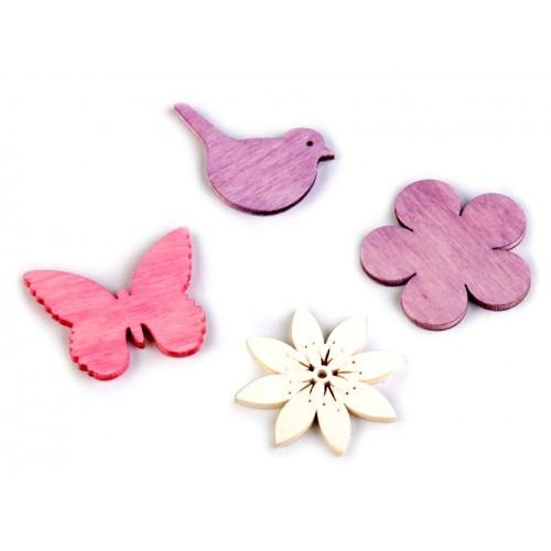 Drevený kvet, vtáčik, motýľ väčší