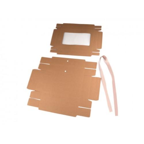 Papierová krabička s priehľadom a stuhou