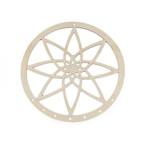 Drevený kruh na lapač snov mandala Ø25 cm