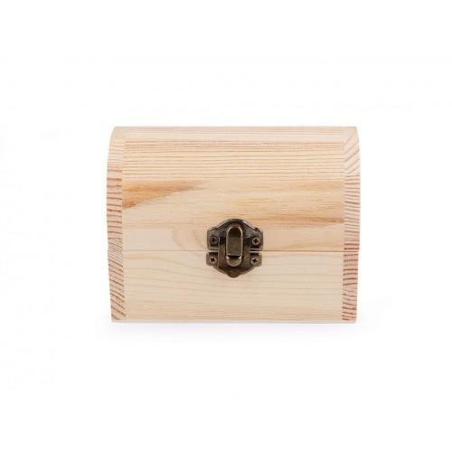 Drevená krabička truhla na dozdobenie