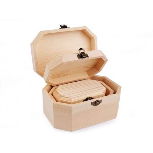 Drevená krabička na dozdobenie 3v1