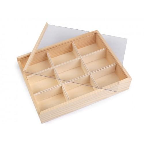 Drevený box s posuvným vekom
