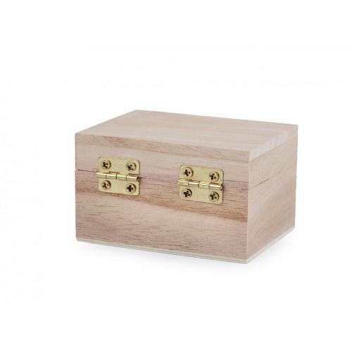 Drevená krabička 5,5x7,5 cm na dozdobenie