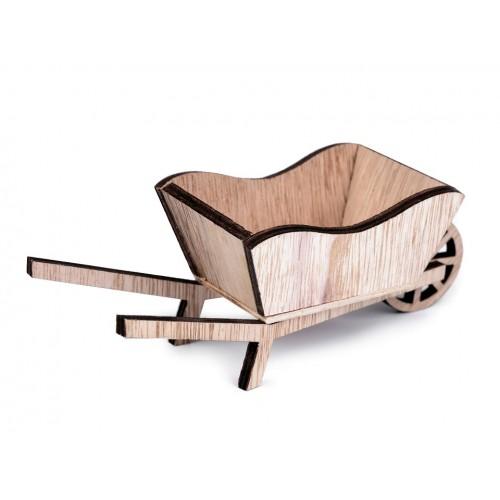 Dekorácia drevený  fúrik 6x16 cm