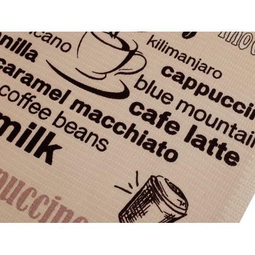 Bavlnené vaflové piké nápisy káva