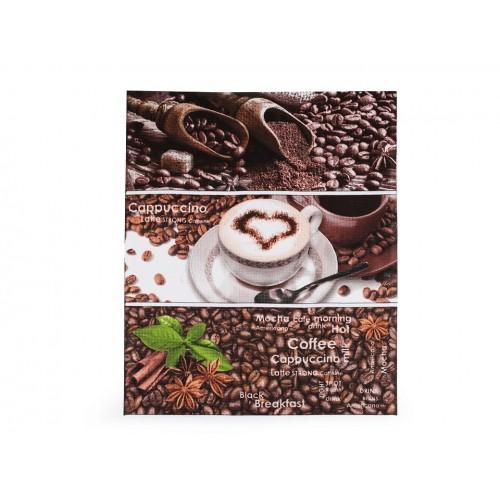 Bavlnené vaflové piké kávové zrnká