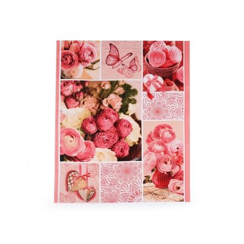 Bavlnené vaflové piké ruže