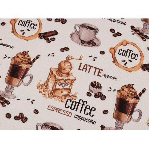 Bavlnené vaflové piké káva